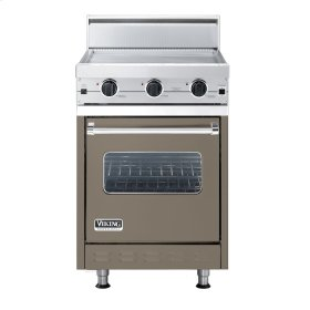 """Stone Gray 24"""" Griddle Companion Range - VGIC (24"""" wide range with griddle/simmer plate, single oven)"""