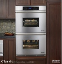 "Classic 27"" Millennia Double Wall Oven with Single Convection (top oven only) in Black Glass"