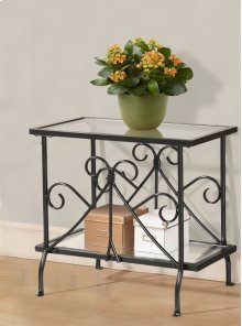 Metal & Glass Plant Table