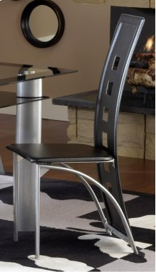 Metro Metal Dinette Chair - Black