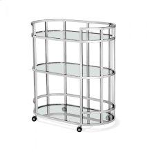 Hayden Bar Cart - Nickel