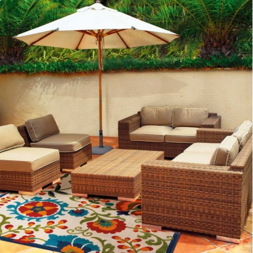 Aloha Alh17 Multicolor Rectangle Rug 7'10'' X 10'6''