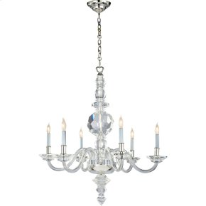 Visual Comfort CHC1152CG/PN E. F. Chapman George II 6 Light 30 inch Crystal with Polished Nickel Chandelier Ceiling Light