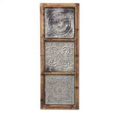 Punched Metal Vertical Wall Art