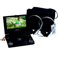 7 inch slim line portable DVD player with car headrest mounting and cabling kit