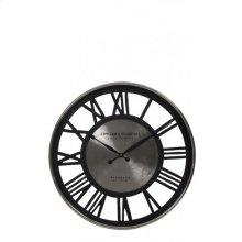 Clock 50,5x5 cm MANAKU nickel-black