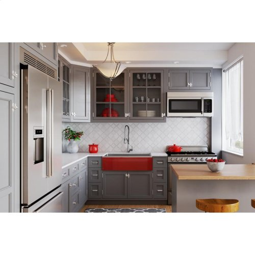 """Elkay Crosstown Stainless Steel 35-7/8"""" x 20-5/16"""" x 9"""" Double Bowl Farmhouse Sink with Aqua Divide for Interchangeable Apron"""