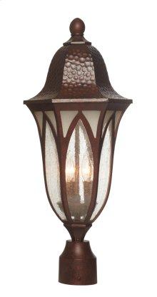 "9"" Post Lantern in Burnished Antique Copper"
