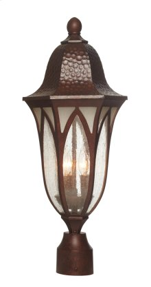 "9"" Post Lantern in Burnished Antique Copper"