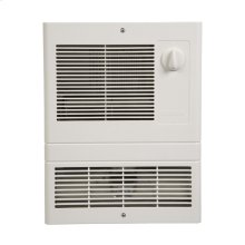 Wall Heater, High-Capacity, 1500W Heater, White Grille, 120/240V.
