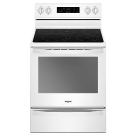 Whirlpool® 6.4 Cu. Ft. Freestanding Electric Range with Frozen Bake Technology - White