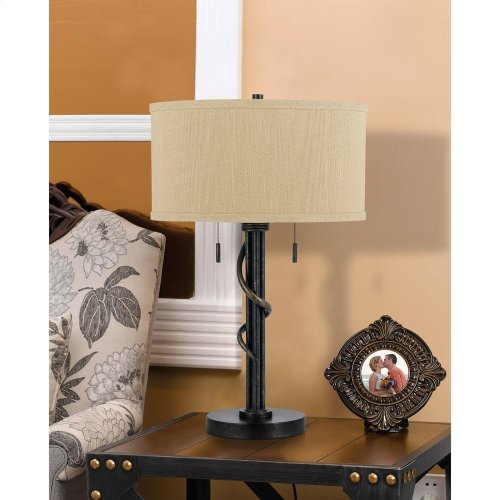 60W X 2 Springs Iron Table Lamp