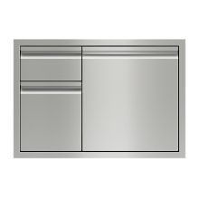 "30"" Combination Double Drawers and Door Storage"