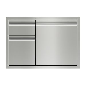 "Wolf30"" Combination Double Drawers and Door Storage"
