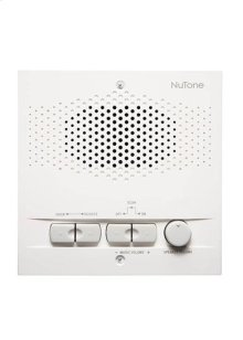 Indoor Remote Station for 3-Wire Intercom systems, 5-1/2w x 5-1/2h x 1-7/16d, projects 1-1/4 from wall in White