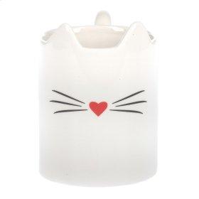 Cat Face with Tail-Handle Mug. 12 oz.