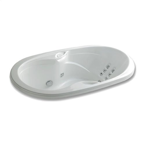 "Easy-Clean High Gloss Acrylic Surface, Oval, AirMasseur® - Whirlpool Bathtub, Premiere Package, 36"" X 66"""