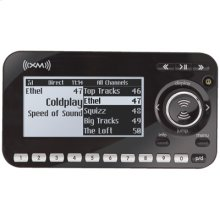 First split screen six line display XM receiver with replay