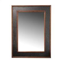 Worn Ivory Canvas Rectangular Mirror