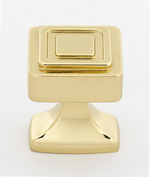 Cube Knob A985-14 - Polished Brass