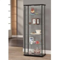 Contemporary Black Curio Cabinet Product Image
