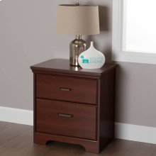 2-Drawer Nightstand - End Table with Storage - Royal Cherry