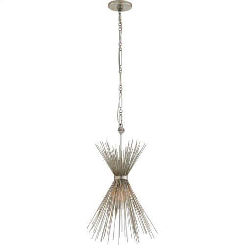 Visual Comfort KW5077BSL Kelly Wearstler Strada 9 inch Burnished Silver Leaf Pendant Ceiling Light, Kelly Wearstler, Small
