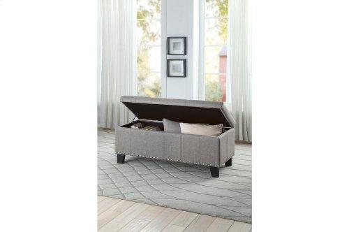 Lift-Top Storage Bench, Gray