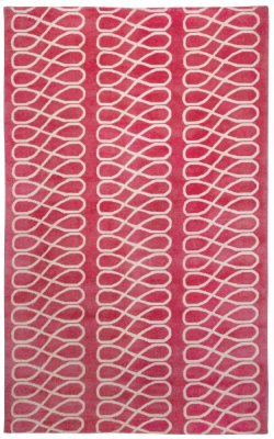 Loop Pink Ivory Hand Knotted Rugs