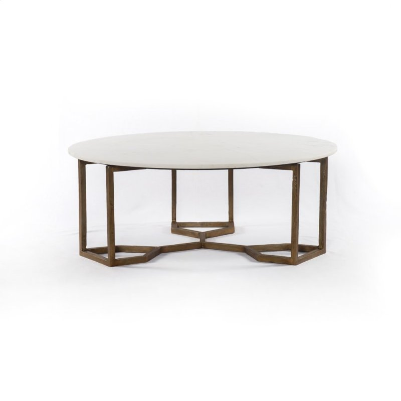 Polished White Marble Style Naomi Coffee Table