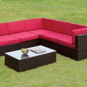 Zendaya Patio Sectional W/ Coffee Table Product Image