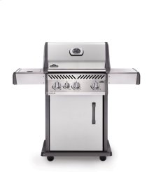 Rogue 425 Natural Gas Grill with Range Side Burner, Stainless Steel