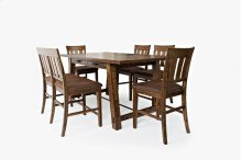 Cannon Valley Counter Trestle With 6 Stools