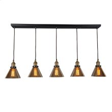 Marta Linear 5 Light Pendant Lamp