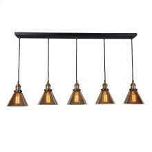 Marta Linear 5 Light Pendant Lamp