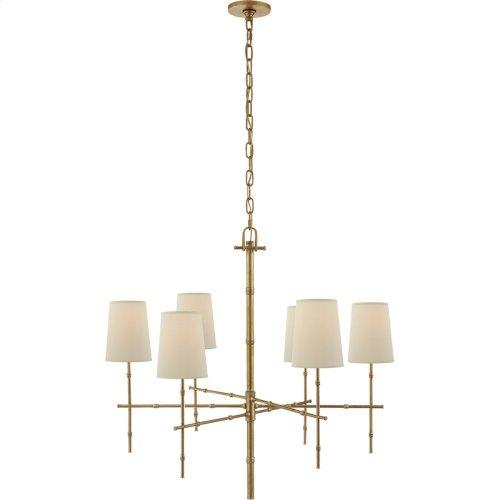Visual Comfort S5161HAB-PL Studio Grenol 6 Light 33 inch Hand-Rubbed Antique Brass Chandelier Ceiling Light