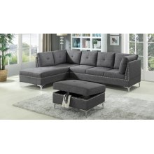 GREY SECTIONAL CHAISE