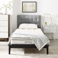 "Jenna 8"" Queen Innerspring Mattress in White"