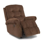 Mackenzi Fabric Power Recliner with Nailhead Trim