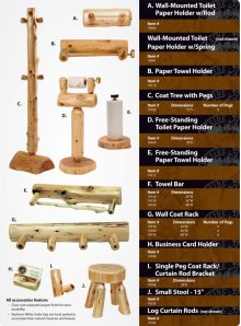 Log Curtain Rods
