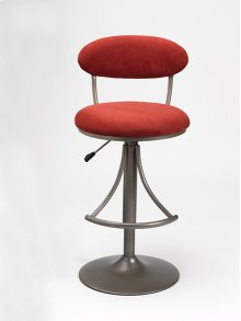 Venus Stool Red With Silver Base