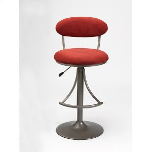 Hillsdale FurnitureVenus Stool Red With Silver Base