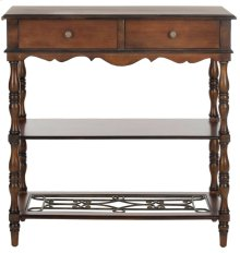 Fiona 2 Drawer Console - Dark Brown