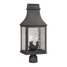 Forged Jefferson Collection 3 light outdoor post light in Charcoal