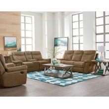 Manual Brown Sofa, Loveseat and Recliner Set