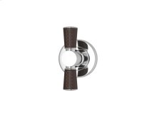 Tube Stitch Out Combination Leather In Chocolate And Bright Chrome