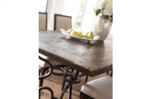 94in Rect Dining Table W/metal Base-black Forest