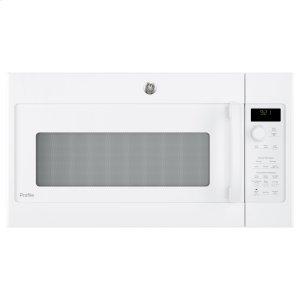 GE Profile Series 2.1 Cu. Ft. Over-the-Range Sensor Microwave Oven - WHITE ON WHITE