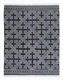 8'x10' Size Handwoven Geometric Cross Rug