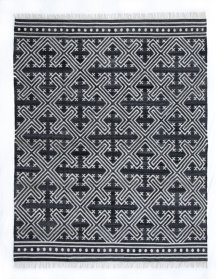 8'x10' Size Handwoven Geometric Cross Rug